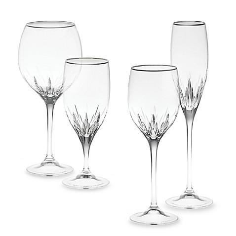 Vera wang wedgwood duchesse platinum crystal stemware and barware - Vera wang stemware ...