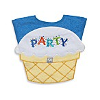 Frenchie Mini Couture Party Bib - Blue