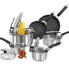 Pyrex® Stainless Steel 10-Piece Cookware Set and Open Stock