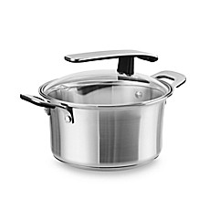 Pyrex® Stainless Steel 3-Quart Covered Saucepan