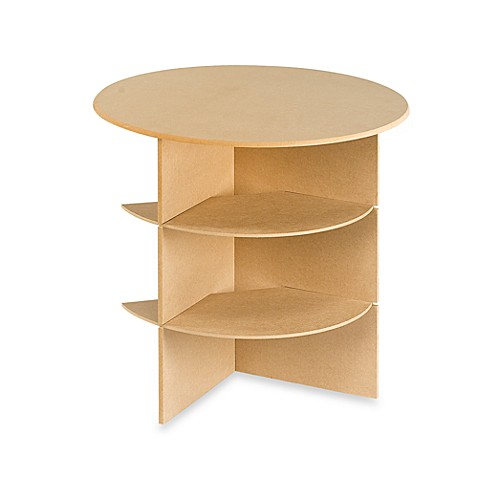 23-1/4-Inch Round Decorator Table with Shelves
