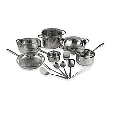 Wolfgang Puck® Gourmet Collection Stainless Steel 20-Piece Cookware Set