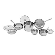 Wolfgang Puck® Gourmet Collection Stainless Steel 10-Piece Cookware Set and Open Stock