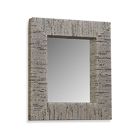 Recycled Newspaper Mirror