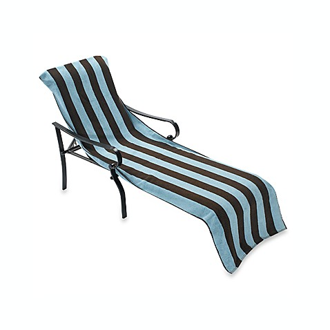 Terry chaise lounge chocolate and aqua towel bed bath for Chaise lounge beach towels