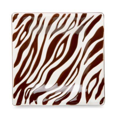 Jungle Safari 6-Inch Zebra Canape Plate (Set of 4)