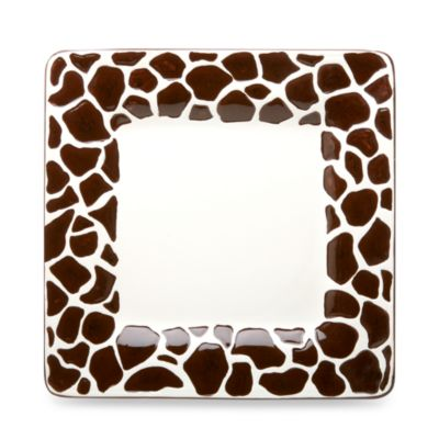 Jungle Safari 9-Inch Giraffe Salada Plate (Set of 4)