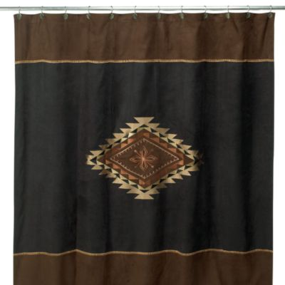 "72"" x 72 Brown Shower Curtain"