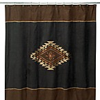 Mojave Black and Brown 72-Inch x 72-Inch Fabric Shower Curtain
