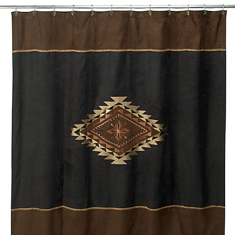 Avanti Mojave 72 Inch X 72 Inch Fabric Shower Curtain In Black Brown Www Be