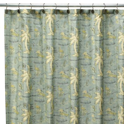 Fishing Fabric Shower Curtain