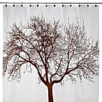 Mocha Tree 70-Inch W x 72-Inch L Vinyl Shower Curtain