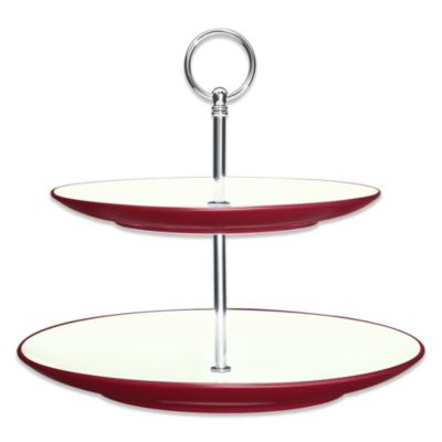 Noritake® Colorwave Raspberry 2-Tier Tray