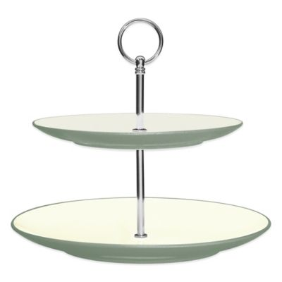 Noritake® Colorwave 2-Tier Hostess Tray in Green