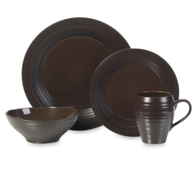 Swirl 4-Piece Place Setting in Chocolate