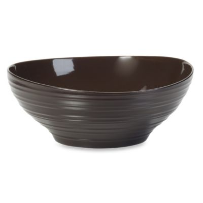 Mikasa® Swirl 9.75-Inch Vegetable Bowl in Chocolate