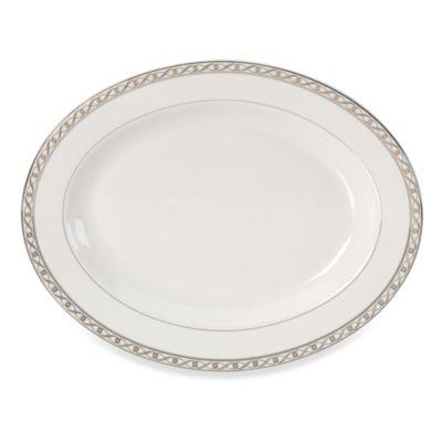 "Mikasa Infinity Band 14"" Oval Platter"