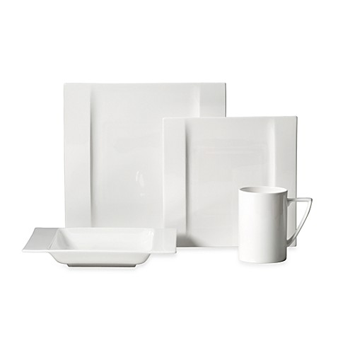Mikasa® Modern White 4-Piece Place Setting