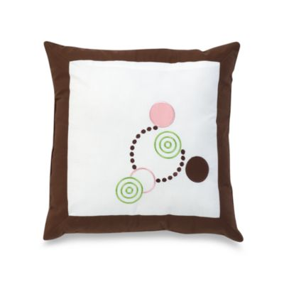 Alli Taylor Circle Time Pink 14-inch Square Toss Pillow