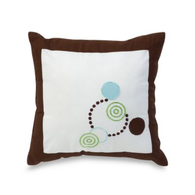 Alli Taylor Circle Time Blue 14-Inch Square Toss Pillow