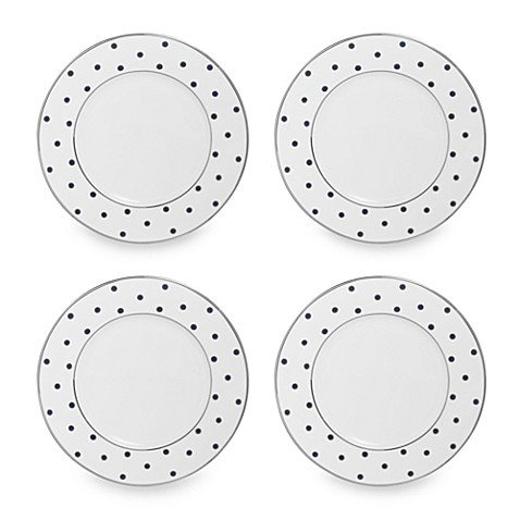 Mikasa® Color Studio Blue and Platinum Dots 8 1/2-Inch Accent Plates (Set of 4)