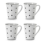 Mikasa® Color Studio Blue and Platinum Dots 13-Ounce Mugs (Set of 4)