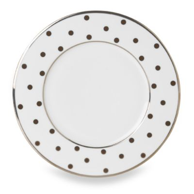 Mikasa® Color Studio Brown and Platinum Dots 8 1/2-Inch Accent Plates (Set of 4)