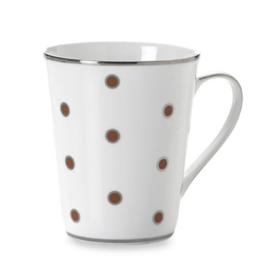 Mikasa® Color Studio Brown and Platinum Dots 13-Ounce Mugs (Set of 4)