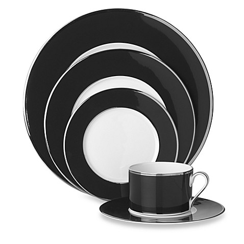 Mikasa® Color Studio Black and Platinum 5-Piece Place Setting