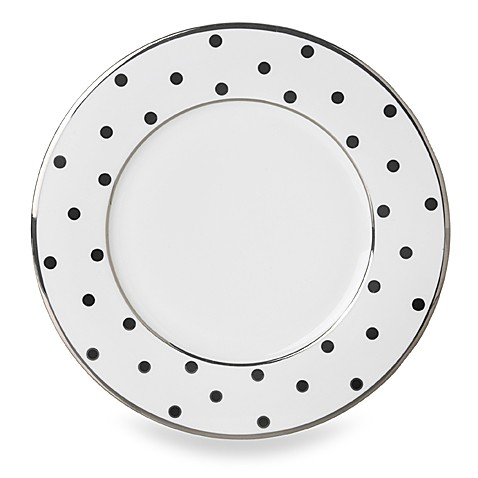 Mikasa® Color Studio Black and Platinum Dots 8 1/2-Inch Accent Plates (Set of 4)