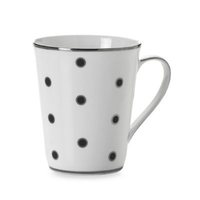 Mikasa® Color Studio Black and Platinum Dots 13-Ounce Mugs (Set of 4)