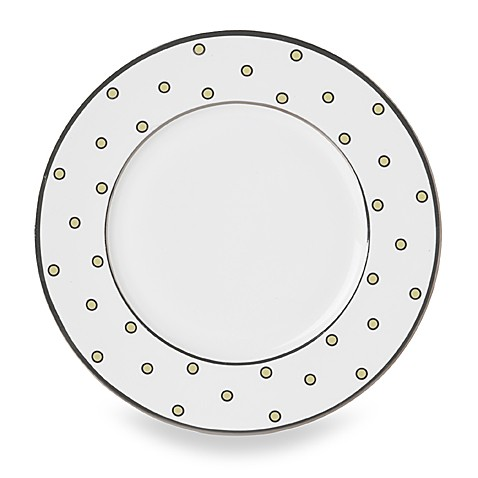 Mikasa® Color Studio Ivory and Platinum Dots 8 1/2-Inch Accent Plates (Set of 4)