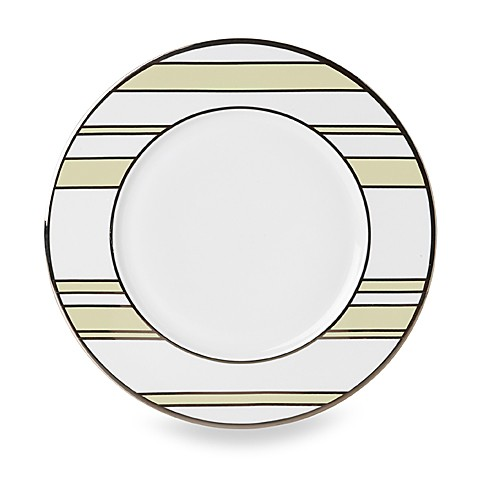 Mikasa® Color Studio Ivory and Platinum Stripe 8 1/2-Inch Accent Plates (Set of 4)