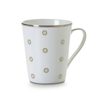 Mikasa® Color Studio Ivory and Platinum Dots 13-Ounce Mugs (Set of 4)