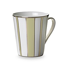 Mikasa® Color Studio Ivory and Platinum Stripe 13-Ounce Mugs (Set of 4)