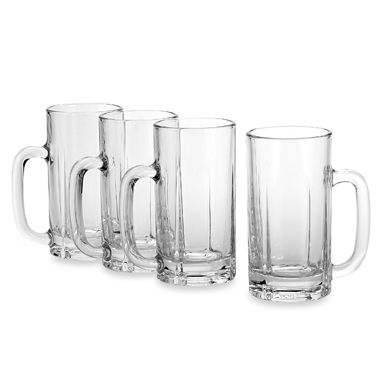 Mikasa® Brewmasters 16 1/2-Ounce Beer Mugs (Set of 4)