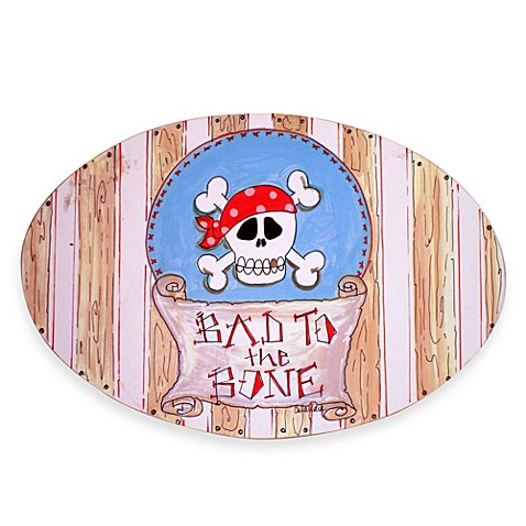 Bad to the Bone Oval Wall Plaque