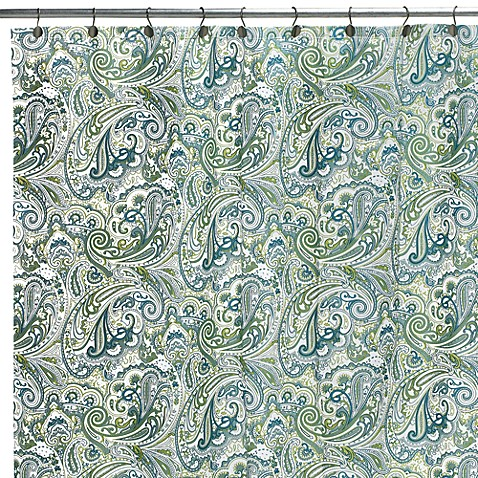 Curtains Ideas blue paisley shower curtain : Blue Paisley 72