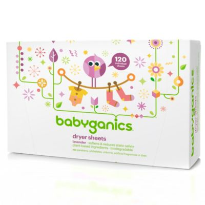 Babyganics 120-Count Dryer Sheets in Lavender Scent