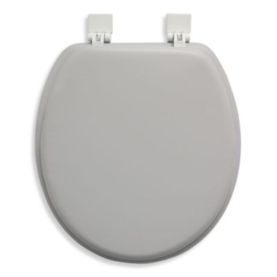 Ginsey Cushioned Standard Toilet Seat in Silver