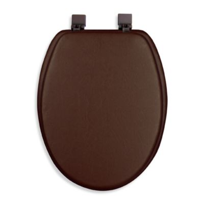 Ginsey Cushioned Elongated Toilet Seat in Chocolate