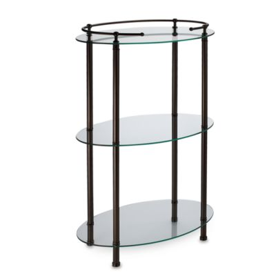 Gatco® 3-Shelf Oval Taboret in Bronze