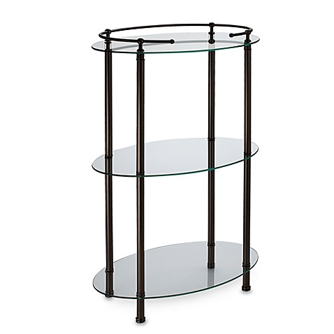 Gatco 3-Shelf Oval Taboret in Bronze