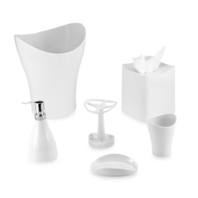 Umbra® Curvino Toothbrush Holder in White