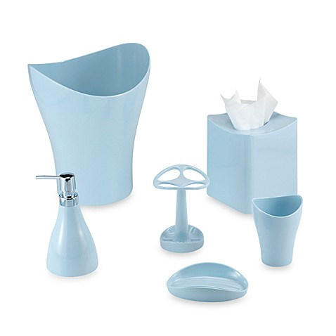 Umbra® Curvino Spa Blue Waste Basket