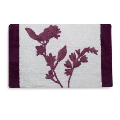 Reflections Bath Rug in Purple