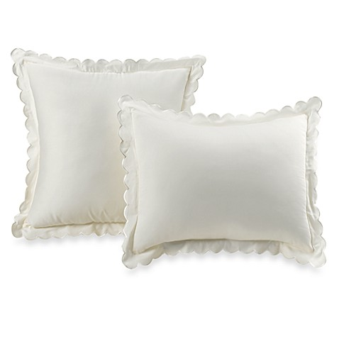 Vintage Chic™ European Scallop Sham in Ivory