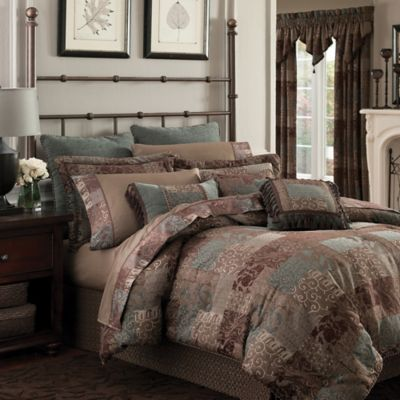 Croscill® Galleria California King Comforter Set in Chocolate