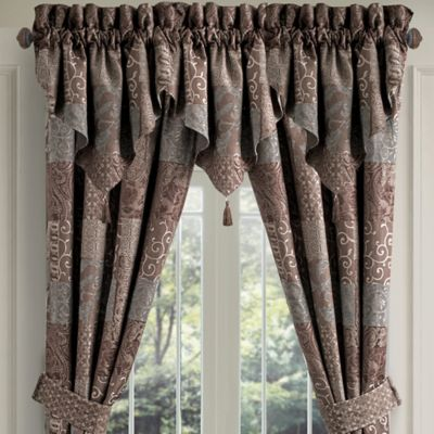 Croscill® Galleria Ascot Valance in Chocolate