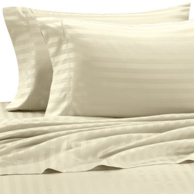 Wamsutta® 500 Damask Stripe King Sheet Set in Ivory
